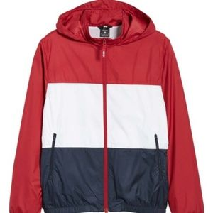 Nike SB Shield Full Zip Hooded Jacket DRk Red/Navy